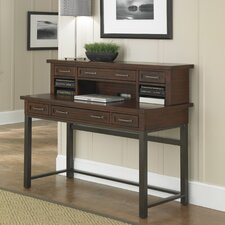 Cabin Creek Computer Desk with 1 Right & 1 Left Drawer and Keyboard Tray