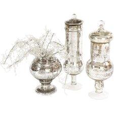 Antique Mercury Glass Decorative Jar
