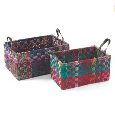 Rectangle Woven Fabric Basket