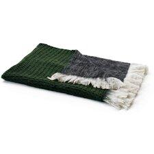 Reverse Mohair Wool Throw Blanket