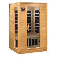 Luxury 2 Person Carbon Sauna with Side Glass