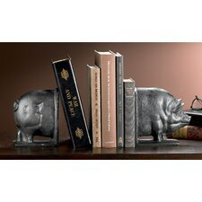 Smiling Swine Cast Iron Book Ends
