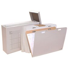 Vertical Flat File System Filing Box (Set of 8)