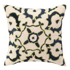Courtney Cachet Vintage Ikat Embroidered Decorative Linen Throw Pillow