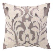 Courtney Cachet Ikat Embroidered Decorative Linen Throw Pillow