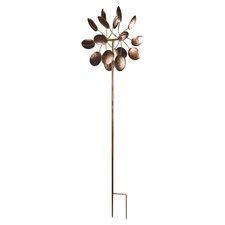 Flower Petal Windmill Garden Stake