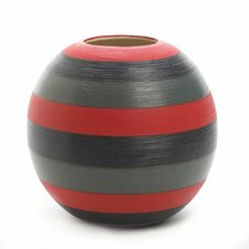 Tribute Striped Decorative Vase