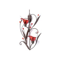 Lily Iron and Glass Candle Sconce