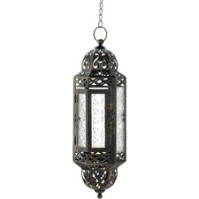 Filigree Hanging Metal Candle Lantern