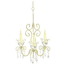 Iron & Acrylic Rococo 3 Light Crystal Chandelier