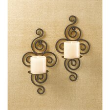 Scrollwork Iron Sconce (Set of 2)