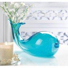 Art-Glass Whale Vase