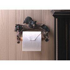 Black Bear Wall Mounted Toilet Paper Holder