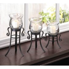 3 Piece Allure Candle Stand Trio Set
