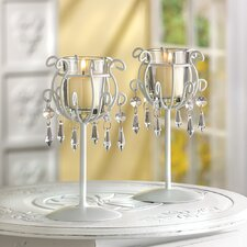 Dazzling Drops Candle Holder Duo