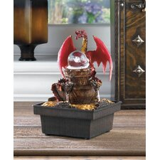Red Dragon Tabletop Plastic Water Fountain