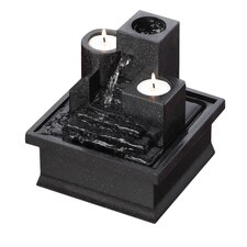 Temple Steps Polyresin Tabletop Fountain