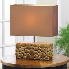 "River Rock 13.38"" H Table Lamp with Rectangular Shade"