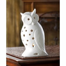 Wise Owl Ceramic Lantern