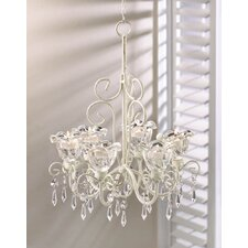 Crystal Blooms 6 Light Candle Chandelier