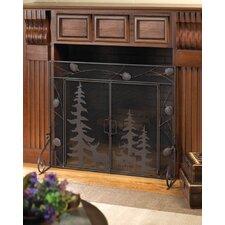 3 Panel Iron Fireplace Screen