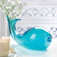 Art Glass Whale Vase