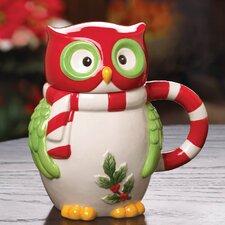 Holiday Hoot Mug with Lid
