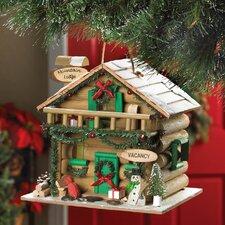 Holiday Mountain Lodge Hanging Birdhouse
