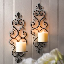 Fleur De Lis Iron Sconce (Set of 2)