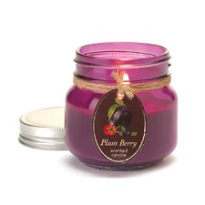 Mason Plum Berry Jar Candle