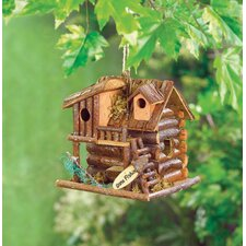 Fishing Cabin Hanging Bird House