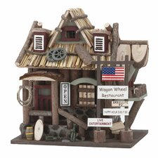 Country Bar and Grill Freestanding Bird House