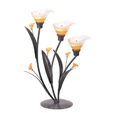 Sunset Lily Tealight Trio
