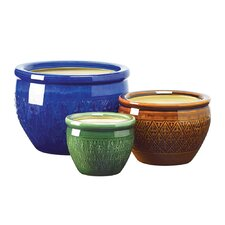 Stendhal 3 Piece Round Pot Planter Set