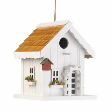 Coastal Cottage Hanging Birdhouse