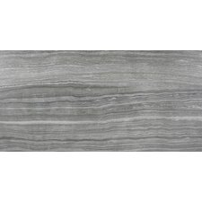 "Eramosa Series 24"" x 12"" Porcelain Polished  Tile in Carbon"