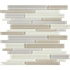 "Element Glass 14"" x 12"" Random Strip Tile in Natural"