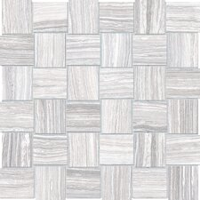"Eramosa Series 2"" x 2"" Porcelain Matte Mosaic in Ice"