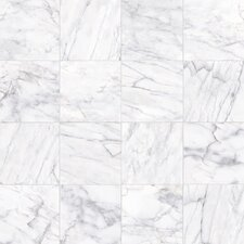 "Carrara Porcelain Glossy 6"" x 12"" High Definition Tile in White"