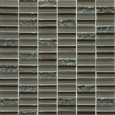 Jayda Series Mixed Crackled Glass Mosaic in Coffee