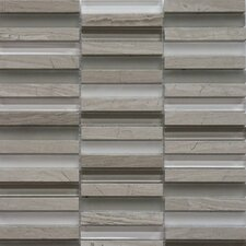 Opus Series Mixed Glass and Marble Mosaic in Escarpment