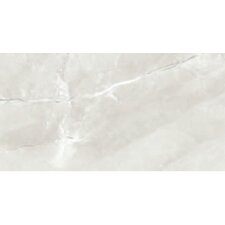 "Classic High Definition 12"" x 6"" Porcelain Glossy Tile in Ivory"