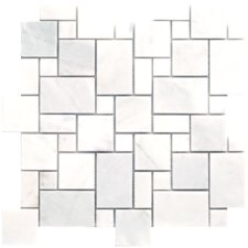 Carrara Extra Mini Pattern Random Sized Marble Polished Mosaic in White