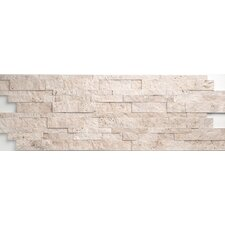Light Ivory Travertine Split Face Random Sized Wall Cladding Mosaic