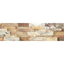Nebula Random Sized Wall Cladding Cubic Travertine Honed Mosaic in Mix Rustic