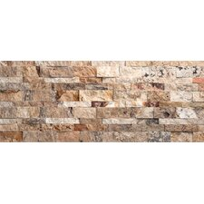 Nebula Random Sized Travertine Splitface Mosaic in Multi