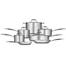 Gourmet Tri-Ply Clad 12 Piece Cookware Set