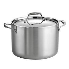 Gourmet Tri-Ply Clad 8 Qt. Stock Pot with Lid