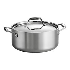 Gourmet 5 Qt. Stainless Steel Round Dutch Oven