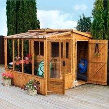 8m W x 8m D Premium Combi Greenhouse